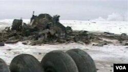 Roda pesawat Rusia yang jatuh ditemukan dekat sebuah desa di daerah Tula.