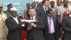 İstanbul-Mogadişu seferi yapan ilk THY uçağı Somali'de