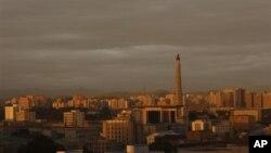 지난 9월 촬영한 평양의 석양. (자료사진)