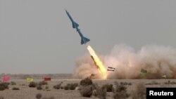 이란의 단거리 미사일 시험발사. (자료사진)