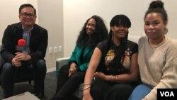 Reporter VOA, Ian Umar bersama kelompok Vokal KING di Los Angeles, California (foto: VOA).