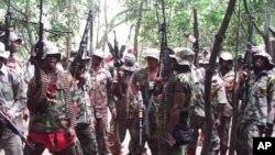 """Mayakan kungiyar """"Niger Delta Vigilante Group"""" ta Ateke Tom su na rawar daji cikin sansaninsu"""