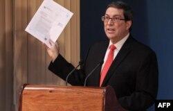 Ministro de Relaciones Exteriores de Cuba, Bruno Rodriguez. Foto del 24 de octubre de 2018.