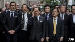 资料照:香港大律师公会成员和法律界人士