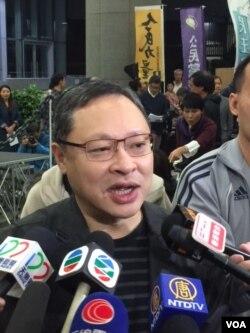 香港大学法律学者戴耀廷2018年4月7日接受媒体采访 (美国之音记者申华 拍摄)