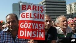 Turkiya alaviylari namoyish qilmoqda