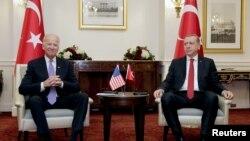 ABŞ-ın vitse-prezidenti Co Bayden və Türkiyə prezidenti Rəcəb Tayyib Ərdoğan, Vaşinqton, 31 mart 2016