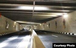 Terowongan di bawah Bandara YIA ini sepanjang 1,4 kilometer. (Foto: Humas Kemen PUPR)