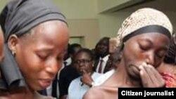Duas das raparigas de Chibok