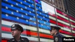 Поліцейський патруль на площі Times Square у Нью-Йорку. 3 липня 2015 року