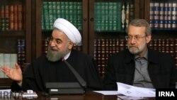 """خبر درخواست حسن روحانی برای صدور """"حکم حکومتی"""" از سوی رهبر جمهوری اسلامی تکذیب شد."""