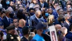 Prezident Co Bayden, birinci xanım Cill Bayden, keçmiş prezident Barak Obama, keçmiş birinci xanım Mişel Obama və başqaları Nyu Yorkda 11 Sentyabr terror hücumlarının 20-ci ildönümü münasibətilə keçirilən anım məsarimində iştirak edir.