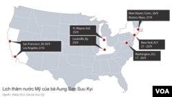 Lịch thăm nước Mỹ của bà Aung San Suu Kyi