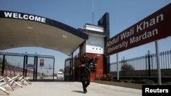 مردان کی خان عبدالولی خان یونیورسٹی کا ایک منظر جہاں گزشتہ سال مشال خان کو قتل کیا گیا تھا۔