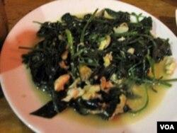 茶叶炒野菜