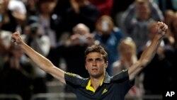 Gilles Simon menjadi petenis putra pertama yang mencapai babak perempat final Turnamen Tenis Dunia ABN AMRO (foto: Dok).