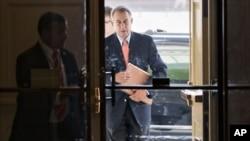 5일, 의사당에 도착하는 존 베이너 하원의장.