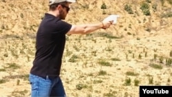 This screen grab from a YouTube video shows a demonstration of the Liberator - a 3D printed handgun - carried out in 2013 by Cody Wilson of Defense Distributed. (YouTube)