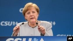 Thủ tướng Đức Merkel ở Munich, 27/5/2017.