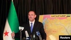 Ông Khaled Saleh, phát ngôn viên của Liên minh Quốc gia Syrian