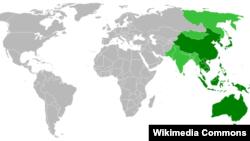 亚太地区地理位置图。(照片来源:维基百科)