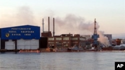 Пожар на субмарине «Майами» ВМС США в Портсмуте, штат Мэн.