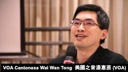 香港中文大學崇基學院神學院院長邢福增 (攝影:美國之音湯惠芸)