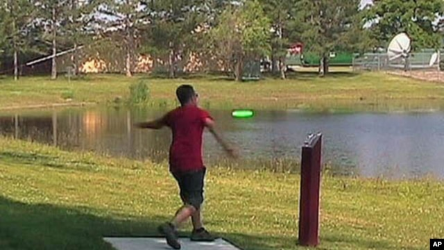 Disc golf follows the same basic rules as ball golf, however, competitors tee off from cement tee pads.