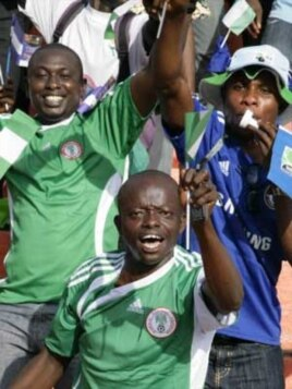 Super Eagles supporters at a World Cup qualifying match in 2009