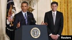 Jack Lew es presentado por el presidente Barack Obama, como nominado a la secretaría del Tesoro en un momento crucial para la economía del país.