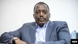 Le président Joseph Kabila Kabange de la République démocratique du Congo, à Kinshasa, 19 Février 2015. epa / MICHAEL KAPPELER