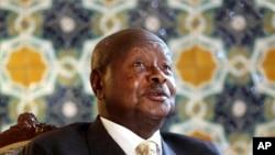 FILE - Ugandan President Yoweri Museveni.