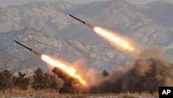 2009년 북한이 동해상으로 쏘아올린 스커드 미사일 (자료사진)