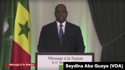 Adresse à la nation du Président Macky Sall, Dakar, 31 décembre 2019. (VOA/Seydina Aba Gueye)