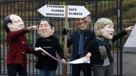 Протест активистов в Варшаве во время ноябрьской Конференции ООН по изменению климата