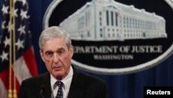 特别检察官穆勒就他领导的涉俄调查发表声明。(2019年5月29日)