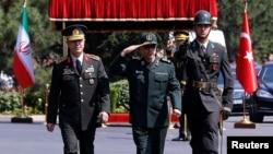 Serokerkanên Tirkîyê General Hulusi Akar û yê Îranê General Mohammad Baqirî