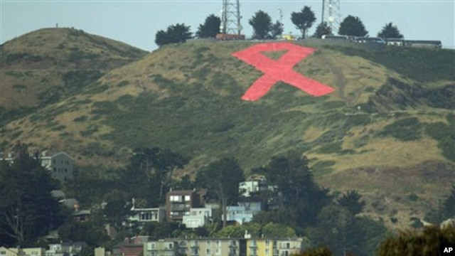 2011 saw the 30th anniversary of the HIV/AIDS epidemic. A San Francisco hillside displayed a giant AIDS ribbon to mark the occasion.