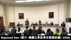 香港泛民出席CECC聽證會 申述《逃犯條例》將斷送香港自由