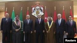 ناصر بوریطه (نفر راست) وزیر خارجه مراکش