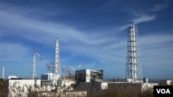 PLTN Fukushima di Jepang yang rusak akibat gempa dan tsunami (foto: dok). IAEA menyetujui ujicoba atas ketahanan PLTN Jepang lainnya.