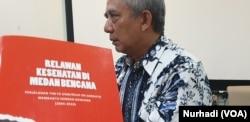 Peluncuran buku penanggulangan bencana di Yogyakarta, 2 Oktober 2019. (Foto: VOA/Nurhadi)