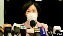 建制派的新民党主席兼立法会议员叶刘淑仪,建议北京应该取消BNO护照移民的香港人中国籍以及香港居留权。 (美国之音/汤惠芸)