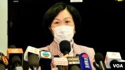 建制派的新民黨主席兼立法會議員葉劉淑儀,建議北京應該取消BNO護照移民的香港人中國籍以及香港居留權。(美國之音湯惠芸)