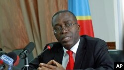 Democratic Republic of Congo's newly-appointed Prime Minister Augustin Matata Ponyo Mapon, during a press conference in Kinshasa, April 19, 2012.
