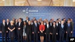 Šefovi diplomatija članica Evropske unije na sastanku u Bratislavi, 2. septembra, 2016.
