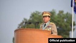 緬甸軍方領導人敏昂蘭大將。