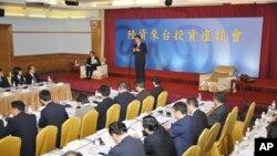 陈云林在陆资来台座谈会上致词