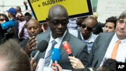 FILE - Rwandan Minister of Justice Johnston Busingye.