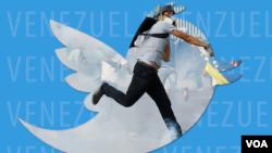 Ilustración de la relación entre las protestas y su difusión a través de las redes sociales como Twitter.